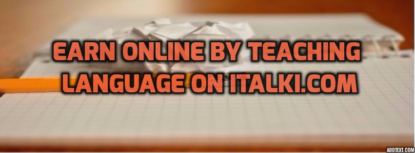 earn online by teaching language