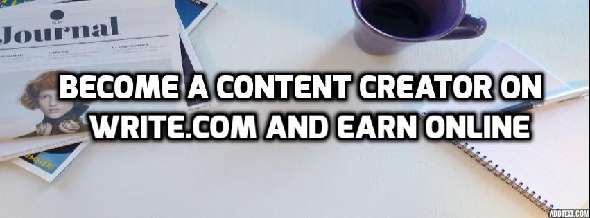 become content creator on write.com