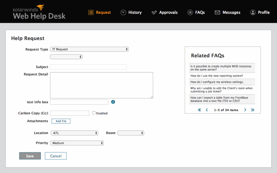 Solarwinds Help desk