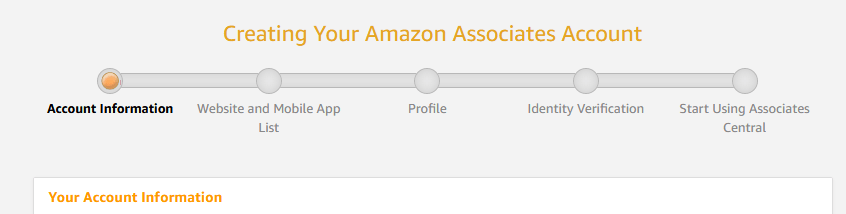Amazon Affiliate Signup