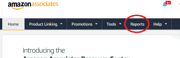 Amazon affiliate reports