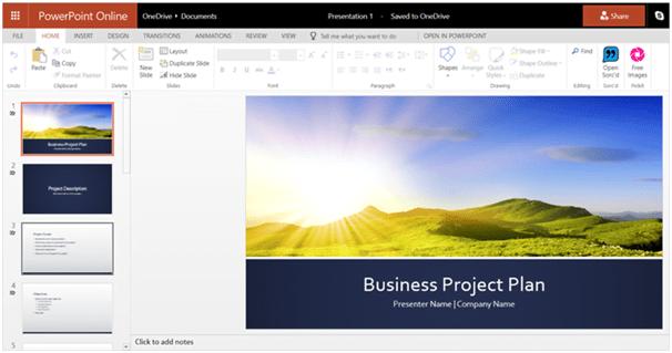 Free PowerPoint Online