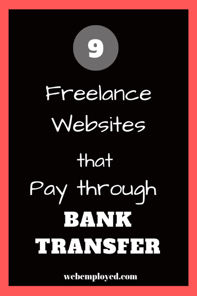 International Online Jobs that pay via Bank transfer