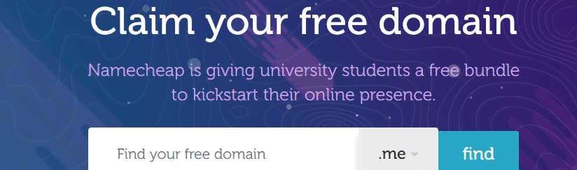 free domain for students