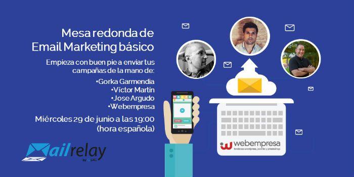 Webinar gratuito Mesa redonda Email Marketing