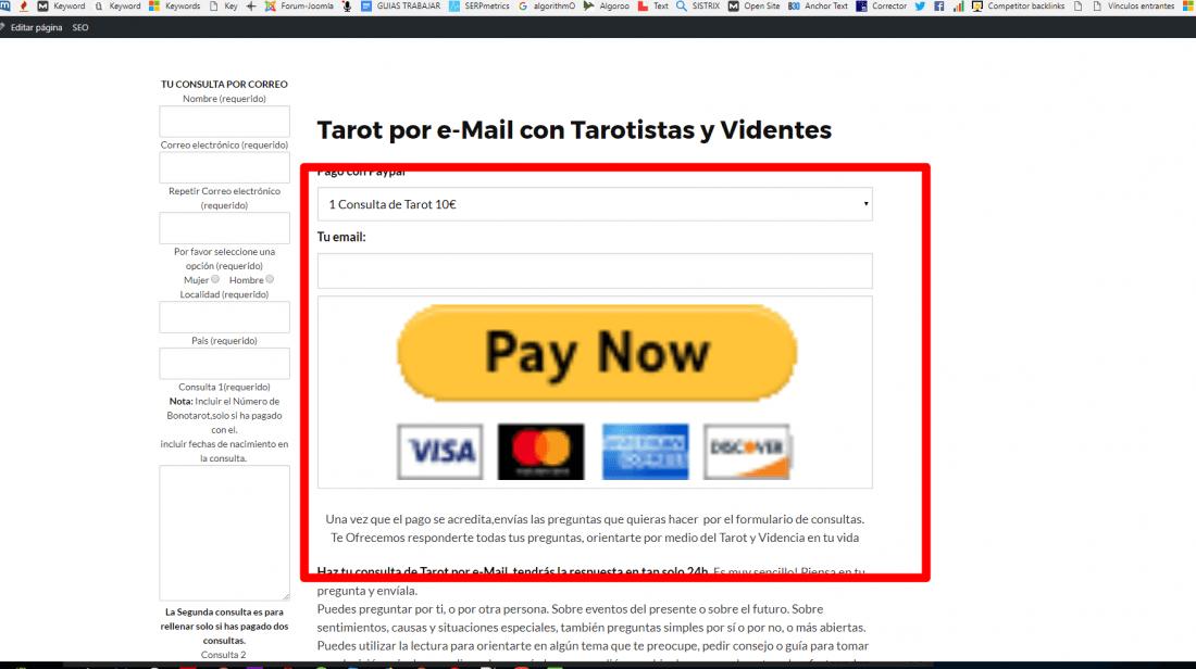 Zoom de plugin pago paypal