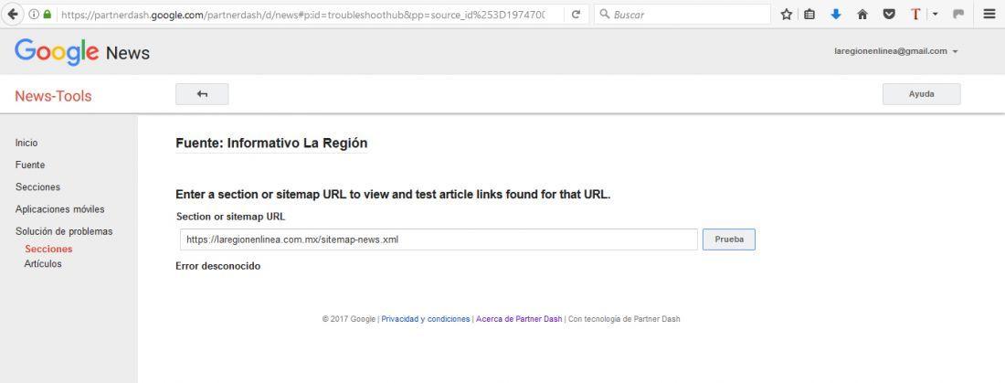Problema al crear el sitemap con XML Sitemap & Google News