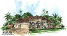 Cortona Home Plan - Tuscan Weber Design Group
