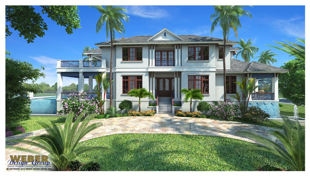 West Indies House Plan Mandevilla House Plan Weber