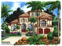 Morocco House Plan - Weber Design Group; Naples, FL.