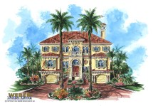 Mediterranean 3-Story Beach House Plans