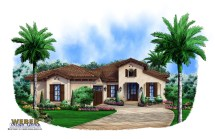 One Story Spanish Style Home Plans