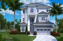 Beach House Plan 3 Story Waterfront Home Stock Floor