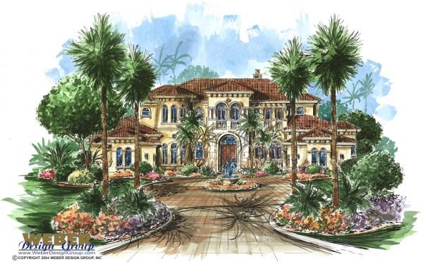 Tuscan House Plan Luxury Mediterranean Dream Home Floor