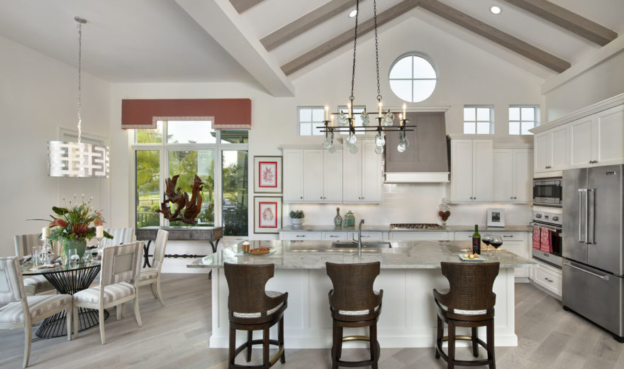 kitchen dinette set step 2 little bakers caribbean beach house plan with photos - tidewater home