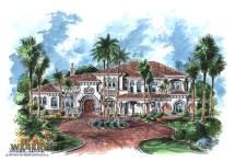 Mediterranean House Plan 2 Story Tuscan Mansion Floor