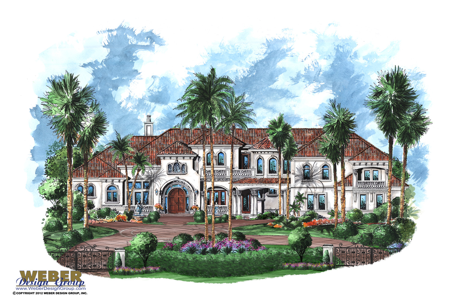 Two Story House Plans Balconies