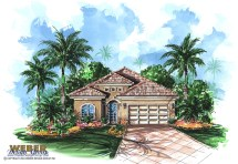 Mediterranean House Plan Waterfront Golf Bungalow