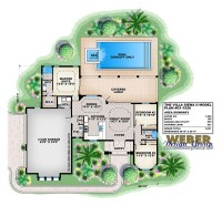 Beach House Plan: Caribbean Style Home Plan with ...