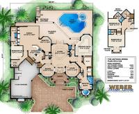 Mediterranean House Plans: Luxury Mediterranean Style Home