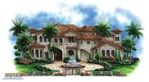 Tuscan House Plans Mediterranean Style Home Floor