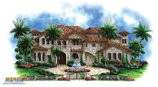 Tuscan House Plans Mediterranean Tuscan Style Home Floor