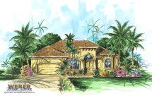 California House Plan 1 Story Coastal Mediterranean Home