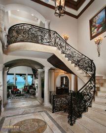 Wrought Iron Stair Railings Design