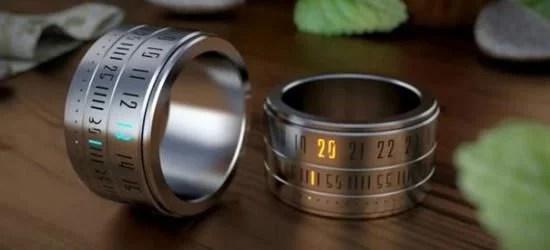 指にはめる時計「Ring Clock」