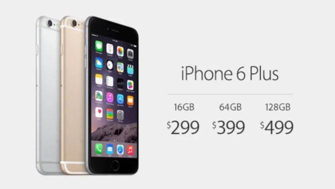 iPhone 6 Plusの価格