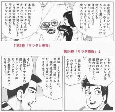 美味しんぼ ドレッシングの矛盾