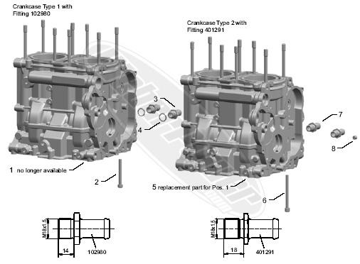 Polaris FST snowmobile crankcase case 2007-2013