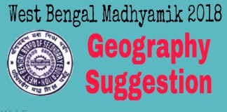 Madhyamik 2018 Geography Suggestion