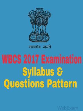 WBCS 2017 Examination