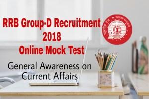 RRB Group-D 2018 Gk online Mock Test