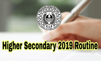 WBCHSE Higher Secondary 2019 Routine