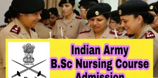 Indian Army B.Sc Nursing