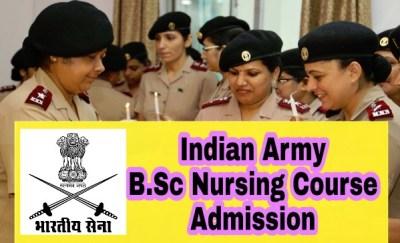 Indian Army B.Sc Nursing