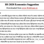 HS 2020 Economics Suggestion demo