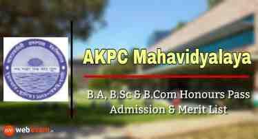 AKPC Mahavidyalaya Admission