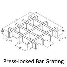 Press-locked Steel Bar Grating_Press-locked Steel Bar
