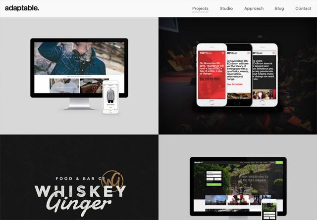 Portfolio website: adaptable