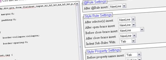 FormatCSS - tangkapan layar.