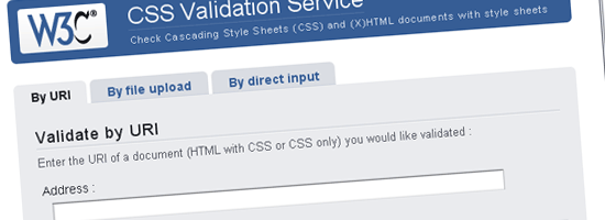 Layanan Validasi W3C CSS - tangkapan layar.