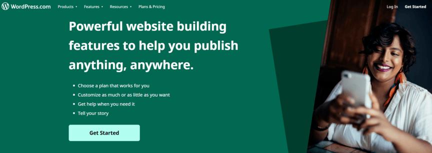 CMS example: WordPress