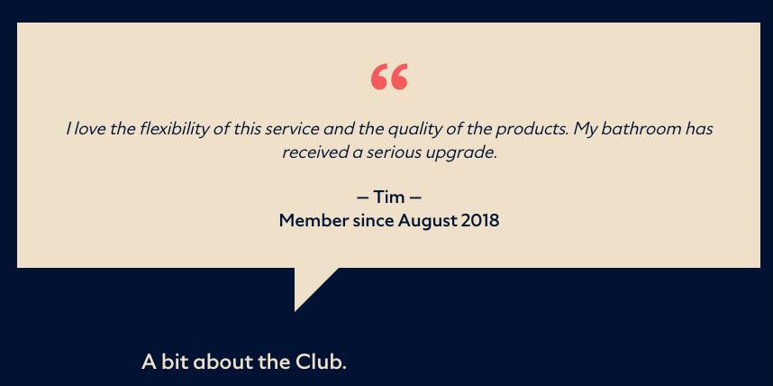 Testimonial from Dollar Shave Club testimonial