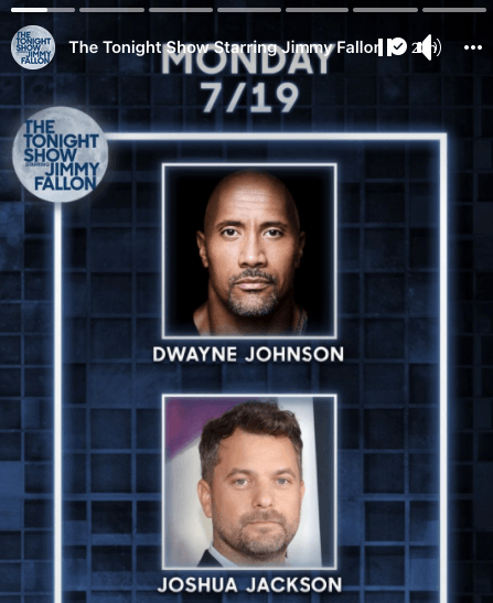 Promotion from the Tonight Show