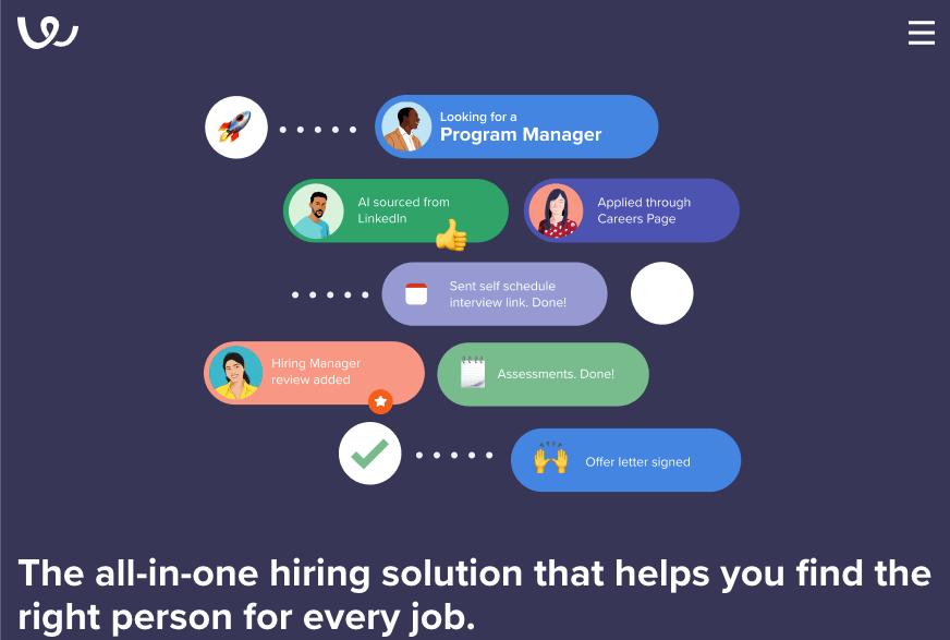 Homepage for Workable recruitment software