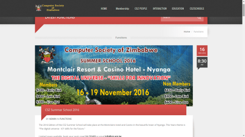 computer society of Zimbabwe website