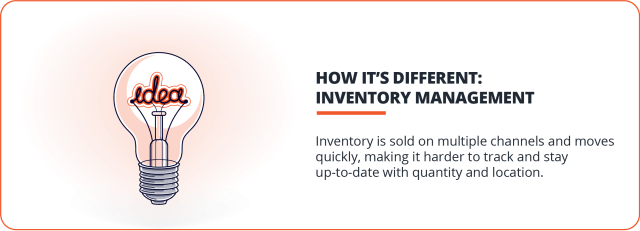 inventory management makes ecommerce accounting different